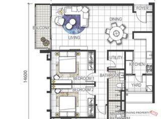 GEM Residences- Type C3 1445sqft ( Ruby Tower)