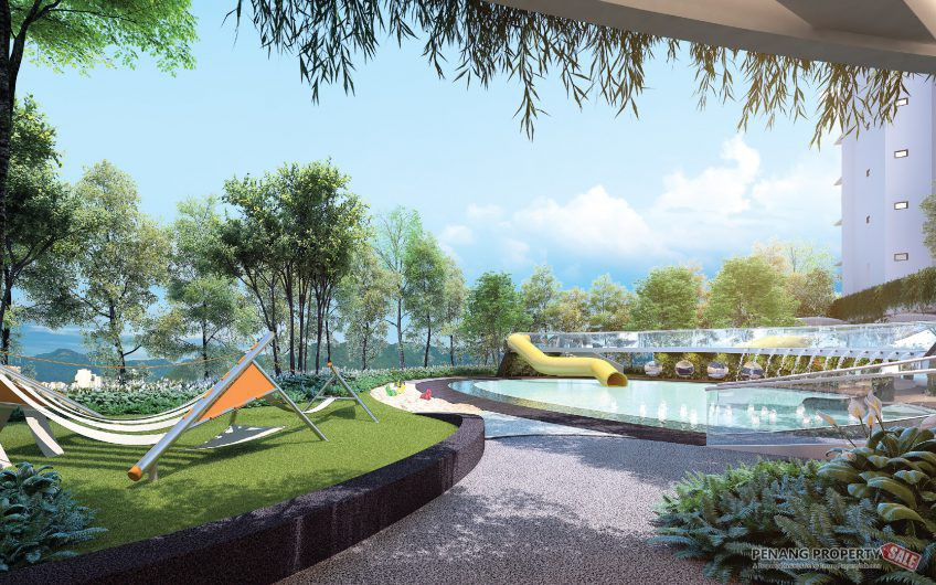 Penang Island, New Launched Seafront Condo, 1400sf. with Private Marina in Queens Waterfront