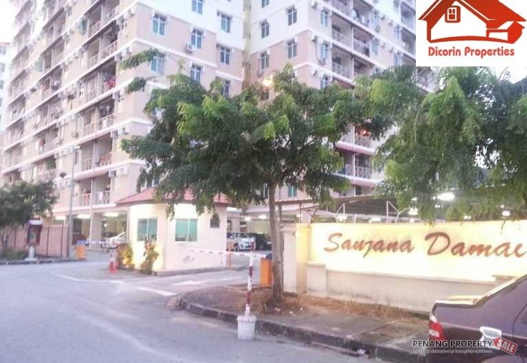 Saujana Damai Apartments, Low density, Near airport, For Sale