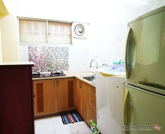 Sri Jelutong Furnished 3 bedrooms Apartment at Jelutong near E-Gate,Tesco, Queensbay Mall, Air-port