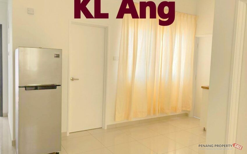 Artis 3, Jelutong, Partly Furnished,650SF, Studio,Kitchen Cab, Aircond near Grace, Aspen, Urban