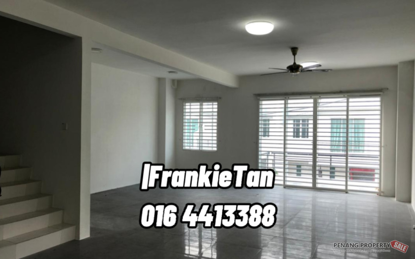 Raja Uda Butterworth 3 Storey Terrace Corner House For Sale