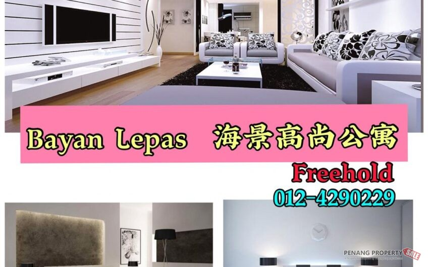 Zen 6 Freehold Fully Seaview Condo at Bayan Lepas [2 CAR PARK]