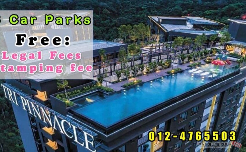 Tri Pinnacle_3 Car Parks_Fantastic View_Sky Infinity Swimming Pool