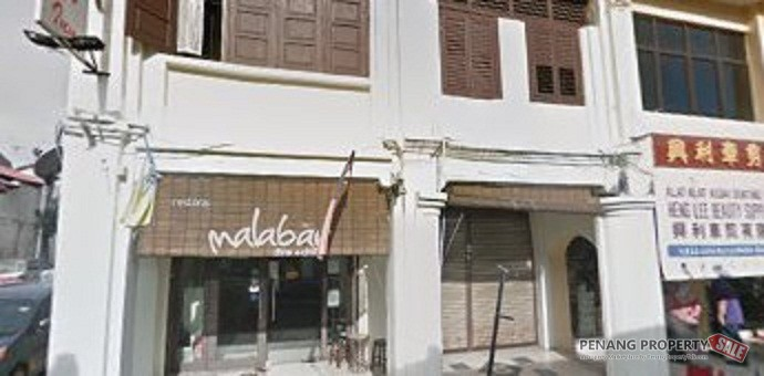2 adjoining units Commercial Shop House (double sty) at Lebuh Cintra Penang