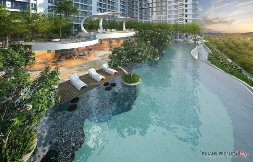 Queensbay Area_QuayWest Residence_Sky Infinity Pool_槟州世界城