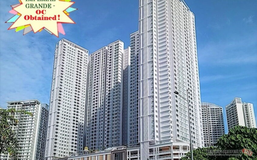 Penang Island, Imperial Grande, Newly Completed Condo Project with Water Theme Park Facilities. OC Obtained!