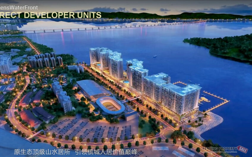 Penang Island, Queensbay, Queens Waterfront Residence, New Masterpiece in Waterfront Condo Development