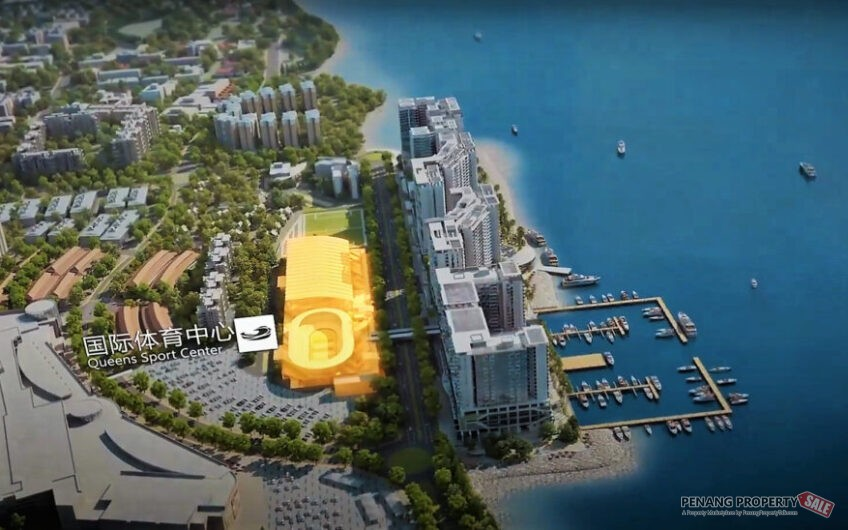 Penang Island, Queensbay, Queens Waterfront Residence, Masterpiece in Seafront Condo Development