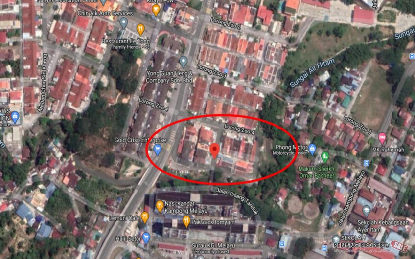 {FREEHOLD} Double Storey Terrace, Lorong Zoo, Ayer Itam, Easy Access