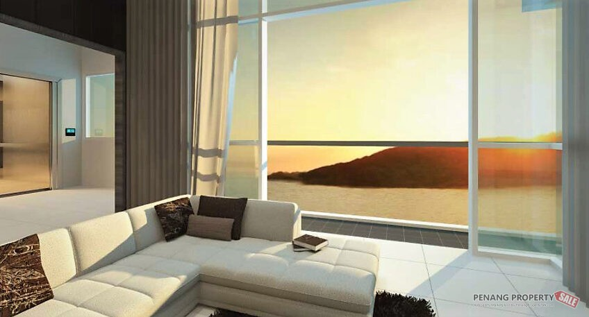 Penang Island, QuayWest Residence, New Luxury Waterfront Condo with Panoramic Seaview in Queensbay