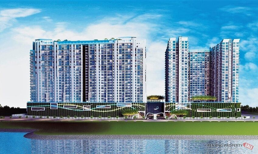 Penang Island, Quay West Residence, New Luxury Waterfront Condo with Panoramic Seaview in Queensbay