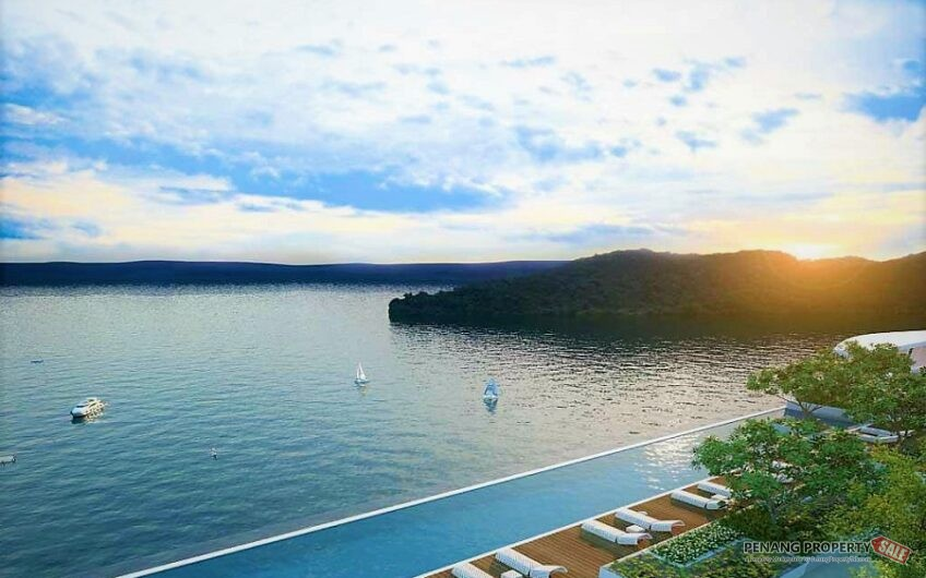 Penang, QuayWest Residence, New Luxury Waterfront Condo with Panoramic Seaview in Queensbay