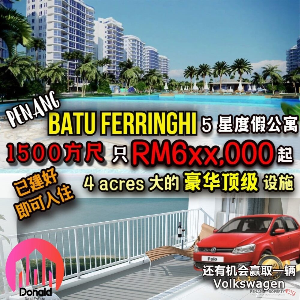 BRAND NEW RESORTS CONDO AT BATU FERRINGHI NEARBY UPLA...