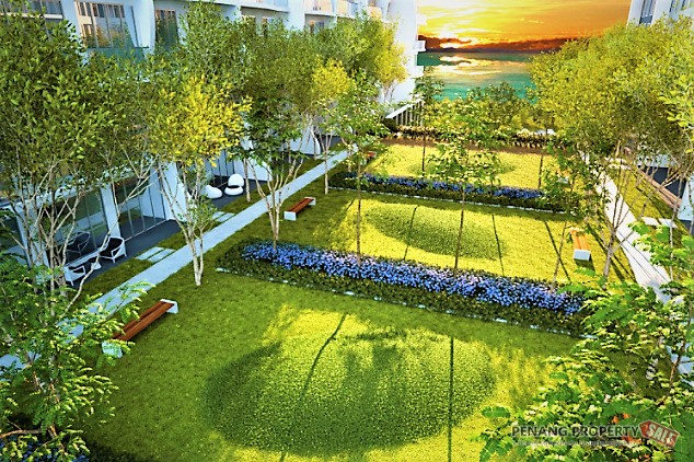 Penang Island, New Luxury Waterfront Condo at Queensbay, QuayWest Residence