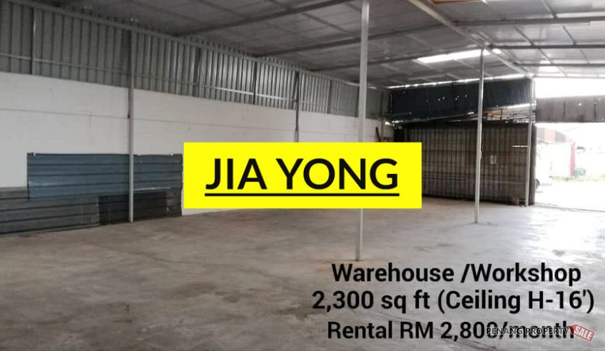 Jelutong warehouse light industry 1400sf plus 2300sf