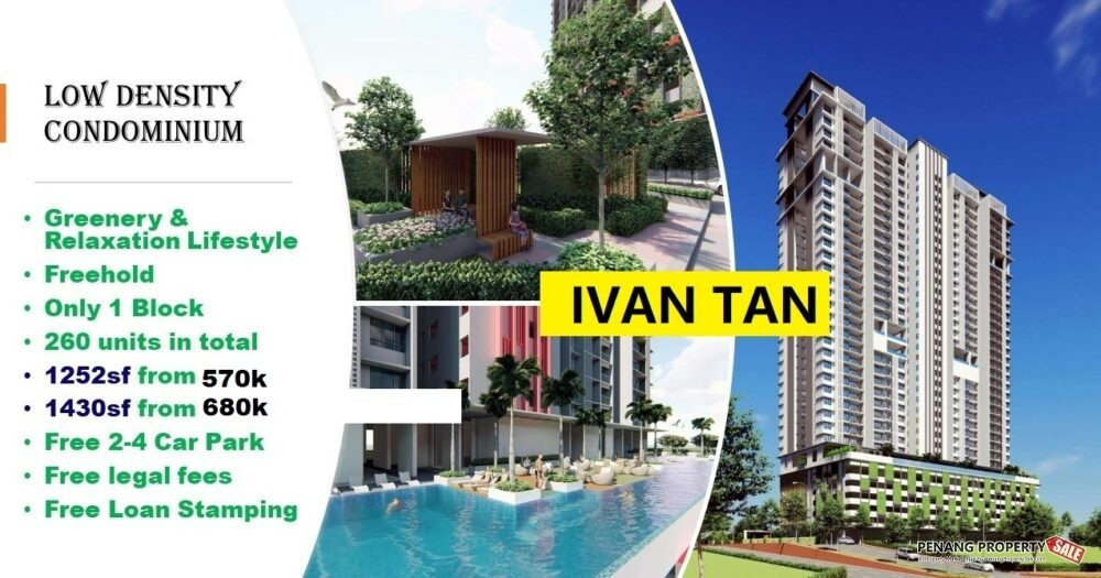 NEW LAUNCH PROJECT LOW DENSITY CONDO 4 ROOMS BAYAN LEPAS